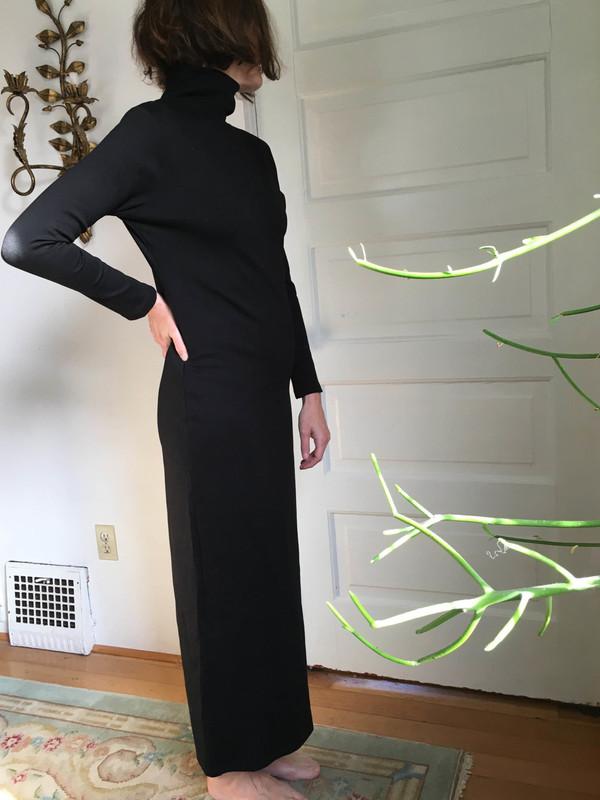 Sunja Link Knit Turtleneck Dress