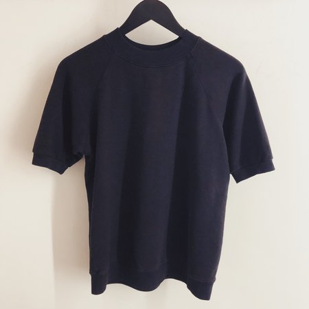 Jungmaven Short Sleeve Raglan Fleece Sweatshirt - Washed Black