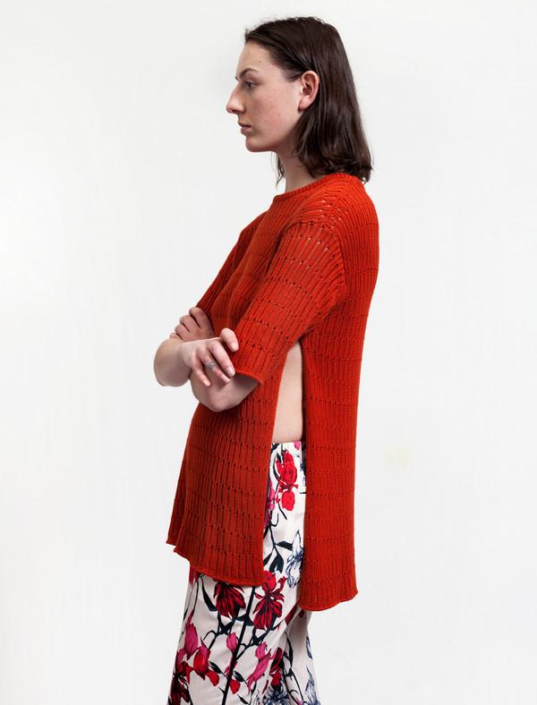 1205 Side Split Knit Terracotta