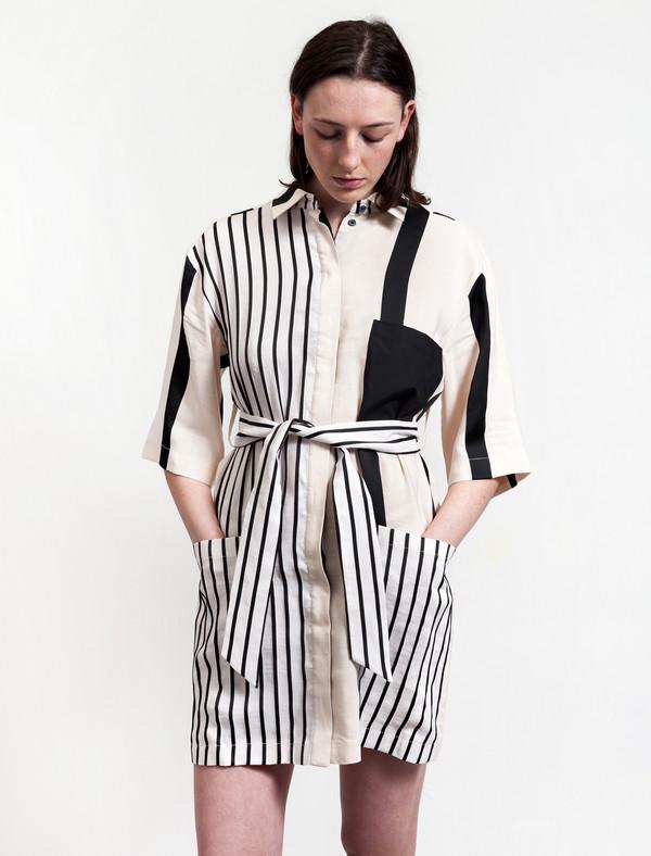 Acne Studios Cabell Linen Dress Stripes