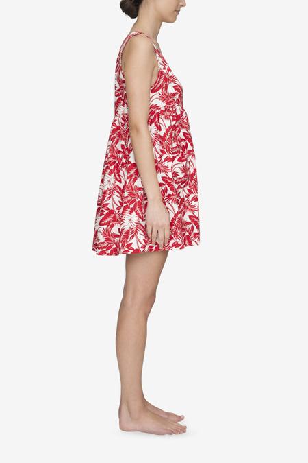 The Sleep Shirt Pocket Nightie - Red Tropical Print