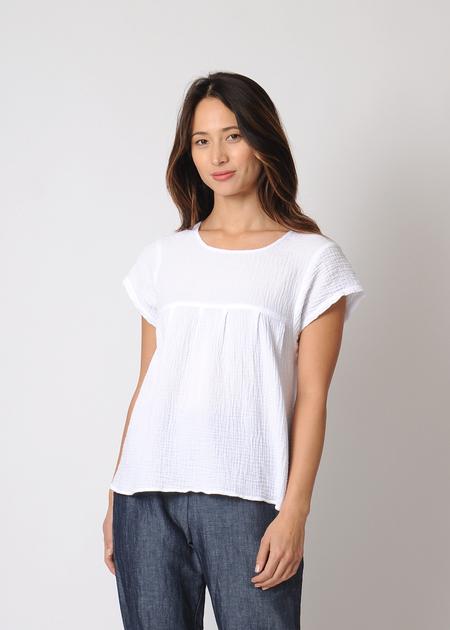 Conifer Peasant Top - White