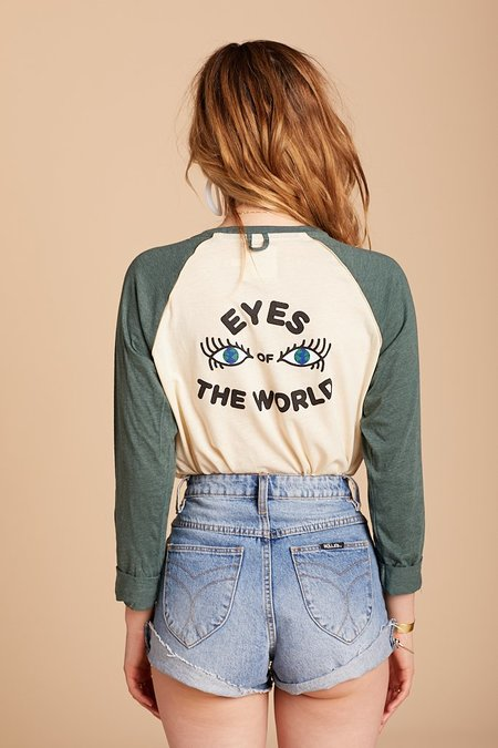 Camp Collection Eyes Of The World Baseball Tee