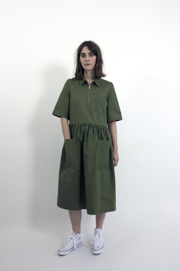 Feldt - Cotton Drill Zip Dress