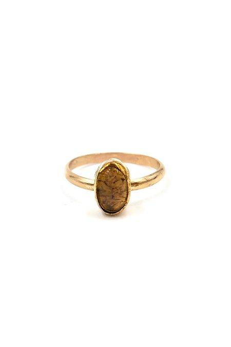 Broken Arrow Fire Opal Tempe Ring - Gold