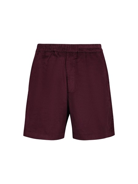 Tres Bien Soft Cord Sport Shorts - Burgundy