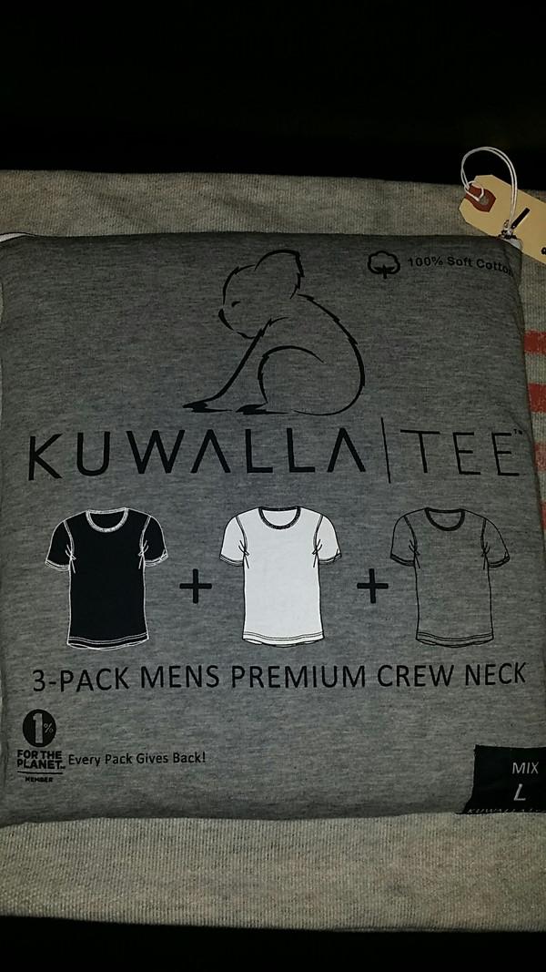Men's KuwallaTee 3 Pack Mix Crew Neck White