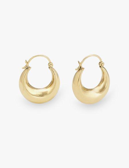 Kathryn Bentley Medium Greek Hoops - Gold