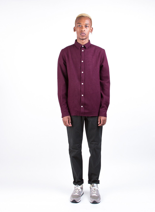 Men's Norse Projects Aaron Worsted Gauze Bitter Chocolate