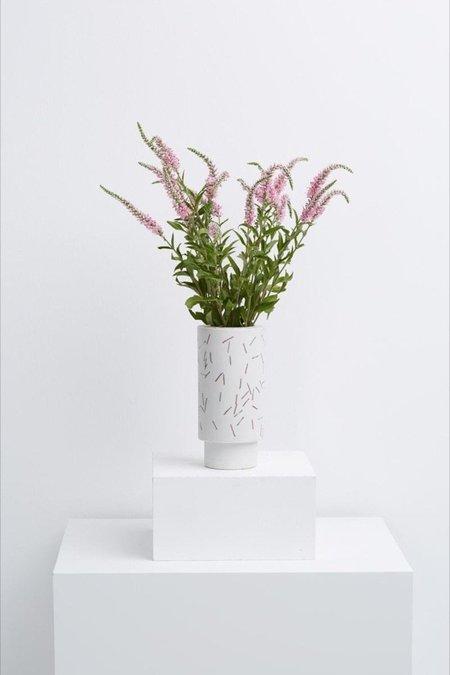 Capra Designs Large Match Stick Vase - White