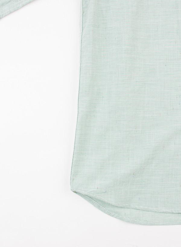 Men's Bleu De Paname Chemise Bureau Twill Stripe Chlorophyl