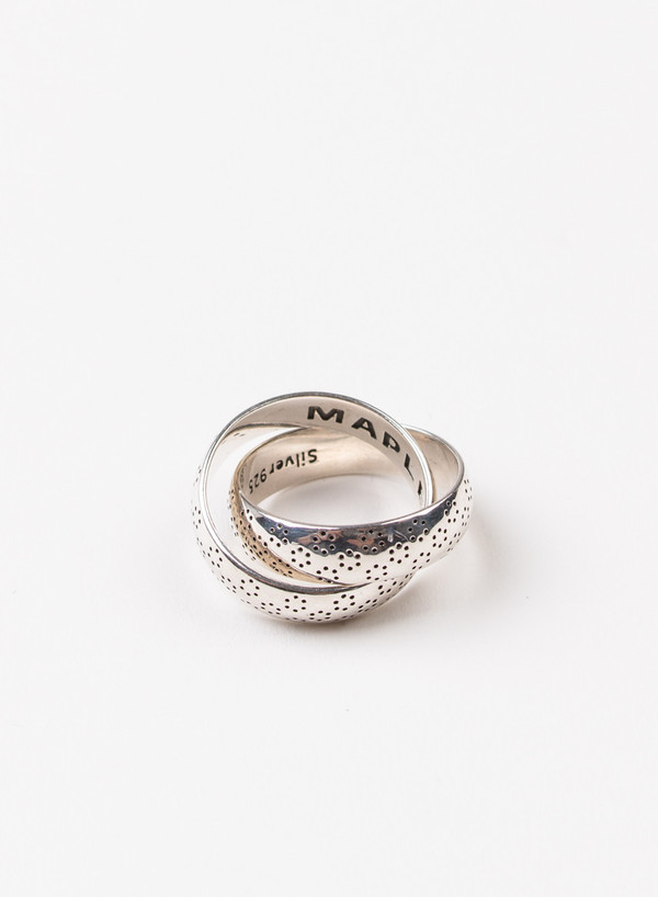 Dots Double Ring Silver 925