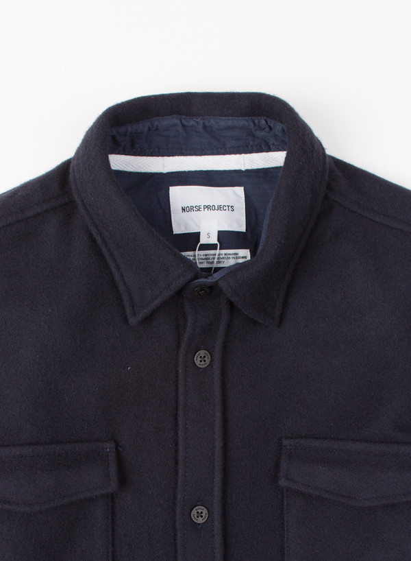 Men's Norse Projects Jens Melton Wool Navy