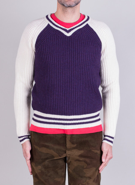 Men's Shipley & Halmos Sperry Knit Purple Guardenia