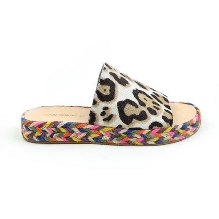 Ariana Bohling Daisy Haircalf Sandal - Leopard