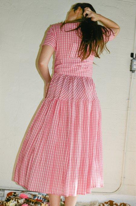 Caron Callahan Luca Dress - Pink Gingham