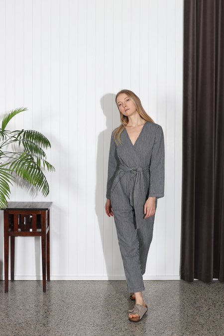 Apiece Apart Morena Pocket Jumpsuit - Railroad Stripe