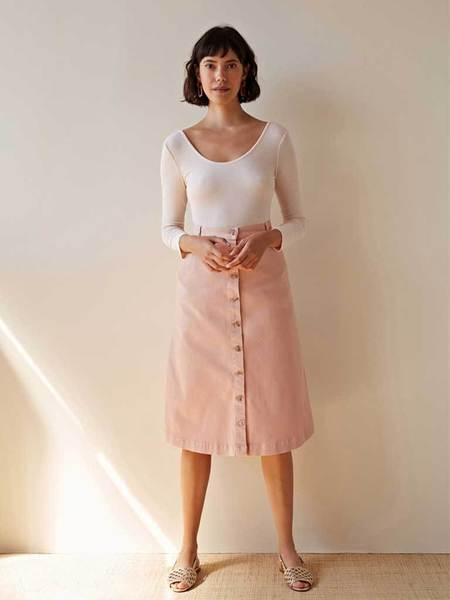 Des Petits Hauts Luliana Button Through Skirt - Pink