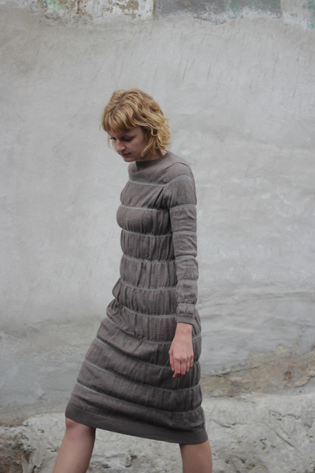 Wol Hide Layering Dress - Earth