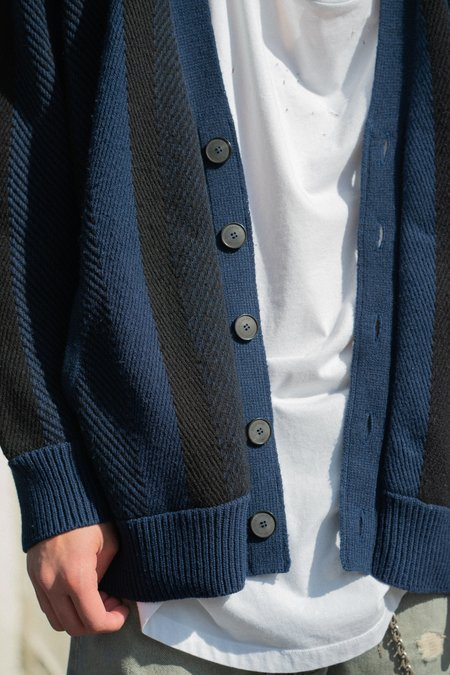 RICHARD Granddaddy Oversized Cardigan - Black/Navy