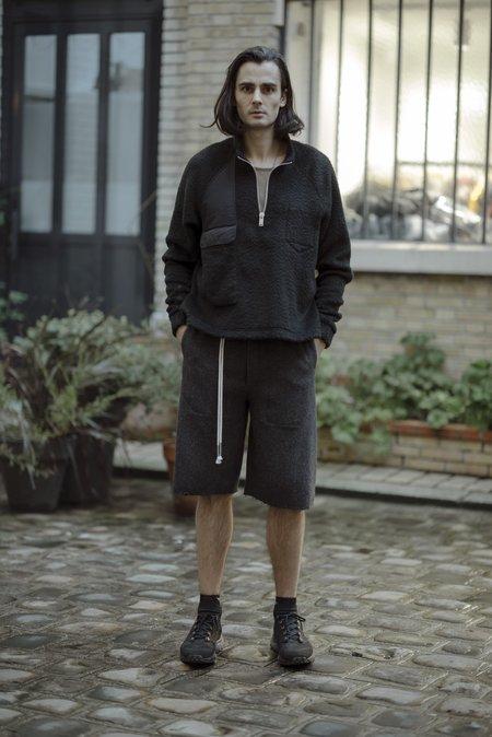 Siki Im Wool Bermuda Shorts - Herringbone