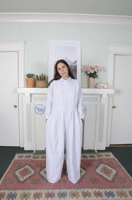 Jmy James Kidd Seersucker Jumpsuit - WHITE