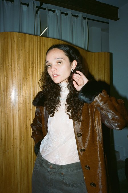 Sincerely, Tommy Vintage Ponyhair and Fur Jacket
