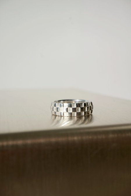 Ursa Major Checkerboard Ring - Silver