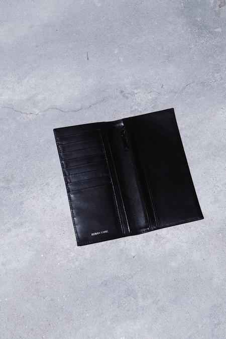 XENAB LONE ZEBRATO CALFSKIN BI-FOLD WALLET- BLACK