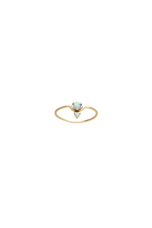 WWAKE Nestled Opal Ring 14KYG