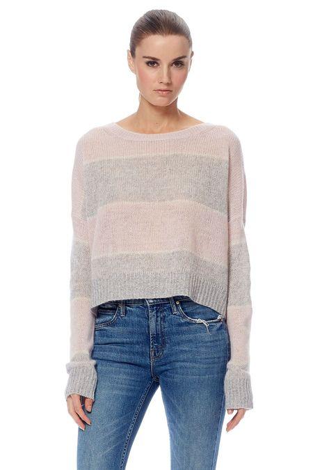 360 Cashmere Constance Sweater - Purple Haze/Heather Grey