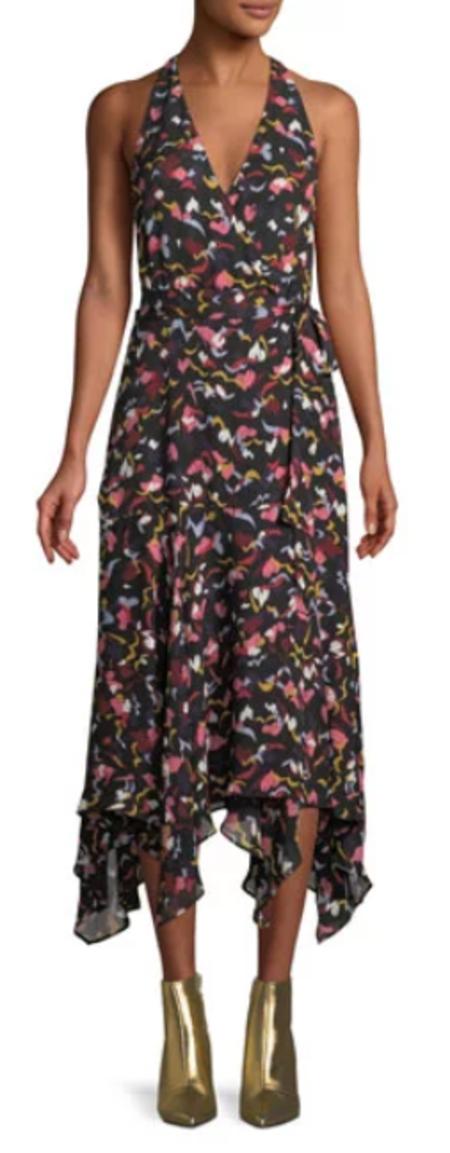 A.L.C. Roslyn Dress - Coral/Multi