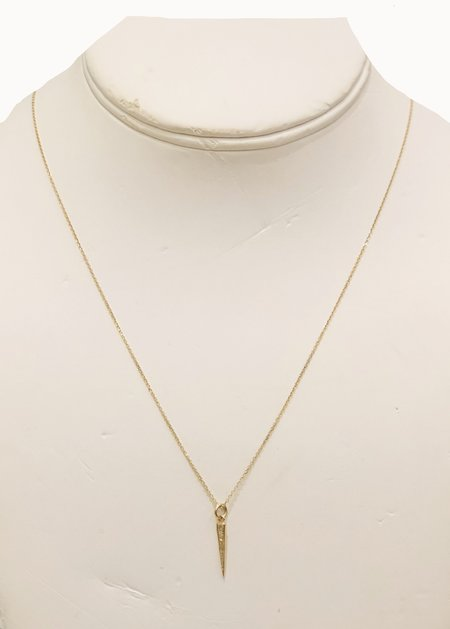 Bridget King Mini Dagger Necklace - Yellow Gold