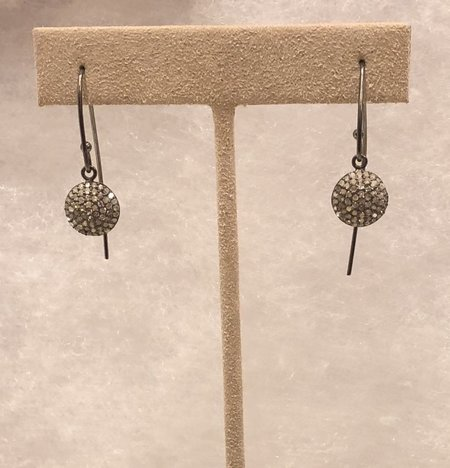 Bridget King Mini Diamond Disc Earrings