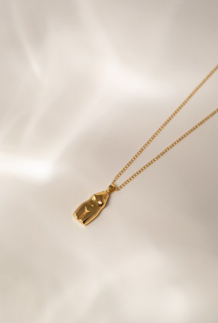 Wolf Circus Woman Vase Necklace - 14k Gold Plated