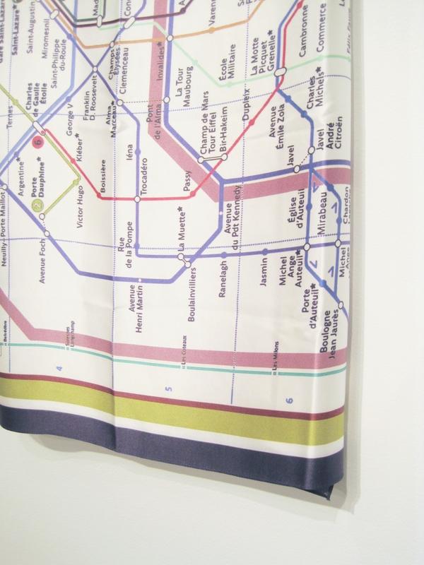 Anu Raina Paris metro scarf
