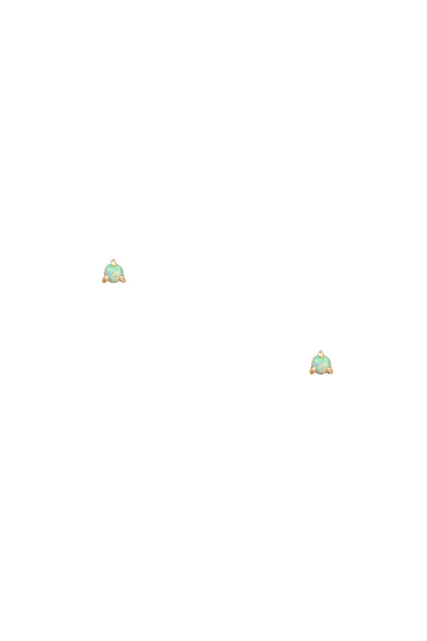 WWAKE Small Opal Single Stud 14KYG