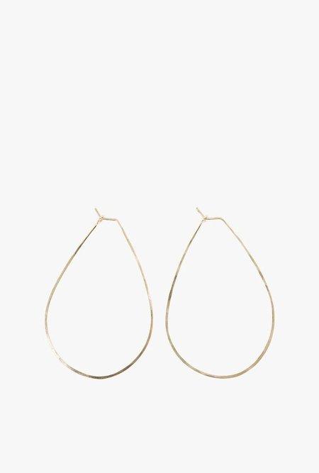 Circadian Studios Med Float Teardrop Earrings - 14k Gold