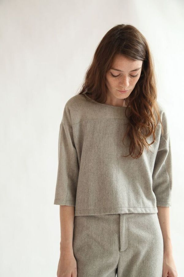 Kordal August Top -  Light Grey