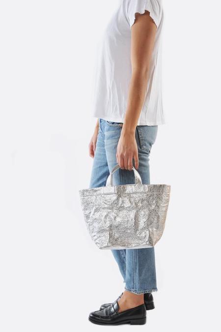 Zilla Mirror Medium Body Leather Shopper Bag - Metallic