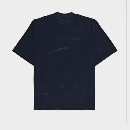 Alexander Wang Athletic Mesh Short Sleeve Shirt - Navy