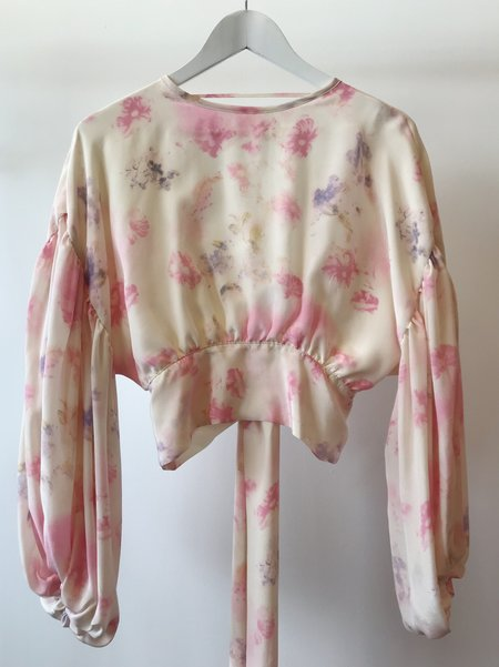 Dominique Healy Madeleine Blouse - Washed Floral Silk