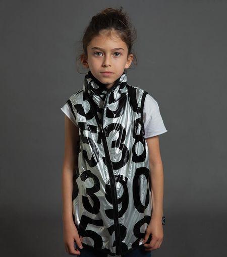 Kids Nununu Nylon Numbered Vest - Silver