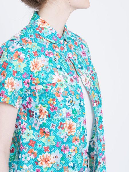 Layla Racy SHORT SLEEVE BUTTON UP - Floral Print