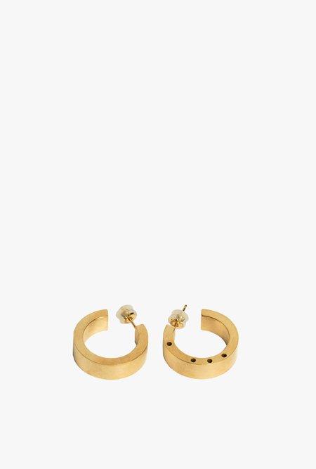 Marmol Radziner Heavyweight Standard Hoop Earrings - Light Brass