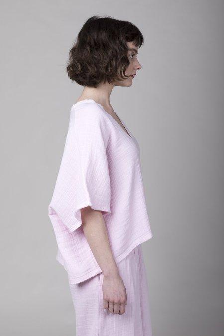 Anaak Kai Deep V Shirt - Pink