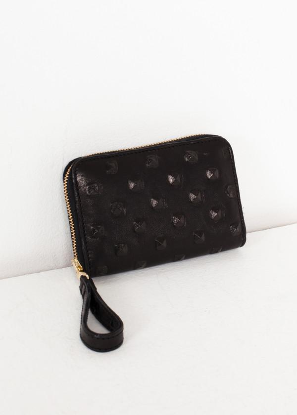 Kate S Mensah Elodie Leather Wallet in Black