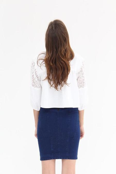 Apiece Apart Paloma Blouse - White