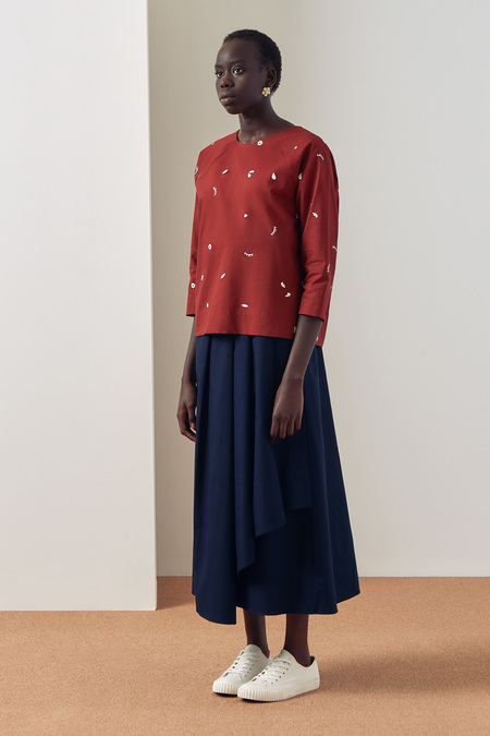 Kowtow Camille Top in Dream