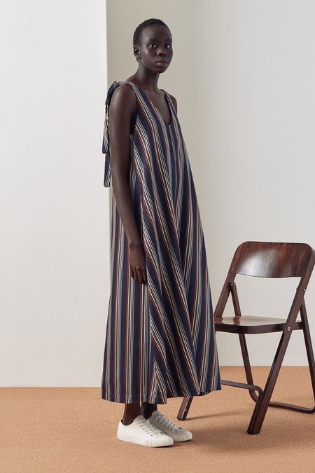 Kowtow Knotted Tie Dress in Stripe